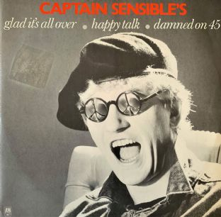 "Captain Sensible - Glad It's All Over (12"") (VG-/VG-)"
